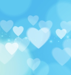 Abstract Love with Bokeh Light on Blue Background vector image