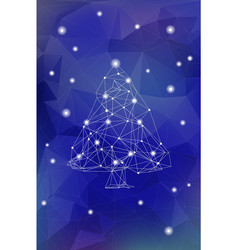 abstract polygonal christmas tree vector image