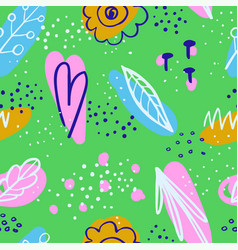 abstract seamless background with colorful doodles vector image