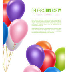 Advertizing poster with balloons transparent vector