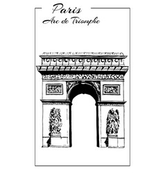 Arc de triomphe paris france triumphal arch vector