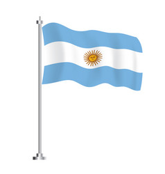 argentinian flag isolated wave flag argentina vector image