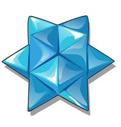 Arrangement triangular pieces ice in the vector