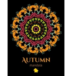 Autumn mandala vector