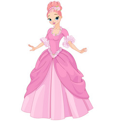 beautiful fairytale princess vector image