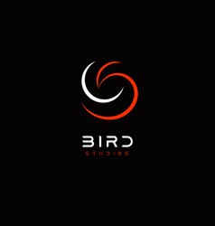 bird abstract logo template for business identity vector image