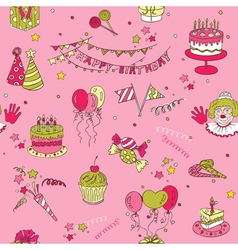 Birthday Seamless Background vector image vector image