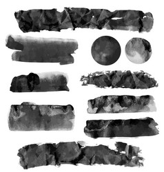 Black brushstroke set vector