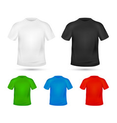 blank t-shirt template change colors mock-up t vector image