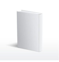 Blank vertical white book cover template vector image vector image