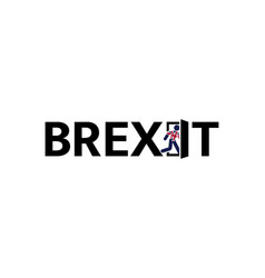 brexit icon uk exit from european unions vector image
