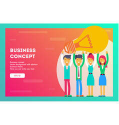 business concept business team are holding a lamp vector image