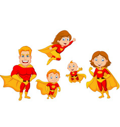 Cartoon superhero collection set vector
