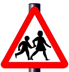 Children Traffic Sign vector