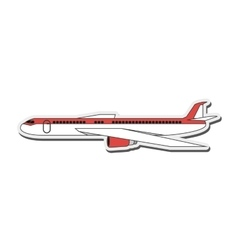 Comercial airplane icon vector