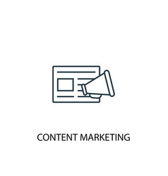 Content marketing concept line icon simple vector