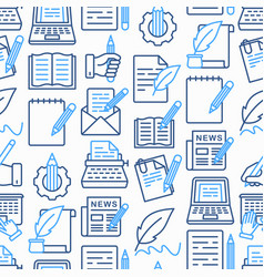 copywriting seamless pattern vector image