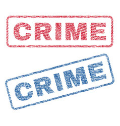 Crime textile stamps vector
