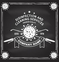 Disinfection and cleaning services badge logo vector