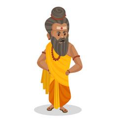 Dronacharya cartoon character vector