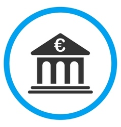 Euro Bank Rounded Icon vector