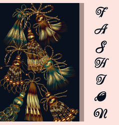 fashion background with tassels vector image