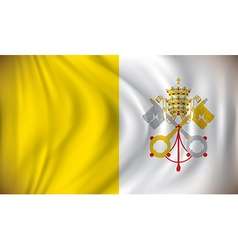 Flag of Vatican vector image