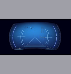 futuristic vr head-up display desig vector image