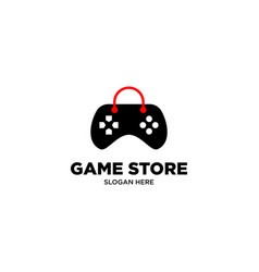 Game store logo design vector