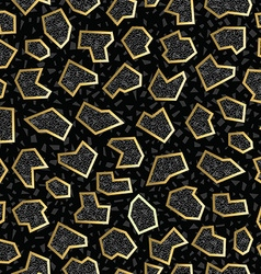 Gold Retro vintage 80s geometry seamless pattern vector image