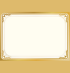 Golden background and frame vector