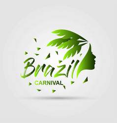 Happy brazilian carnival day beautiful and vector