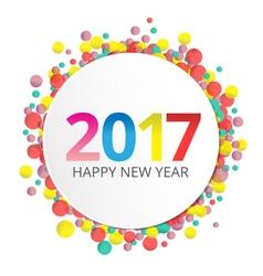 Happy New Year 2017 label vector image