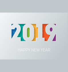happy new year 2019 calendar or brochure cover vector image