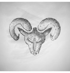 Head of the ram icon vector