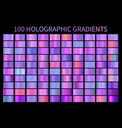 holographic gradient colorful background hologram vector image