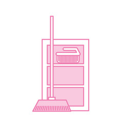 house broom with case vector image