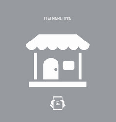 house concept - flat minimal icon vector image