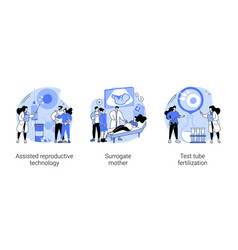 infertility procedures abstract concept vector image