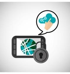 Internet design communication concept flat vector image