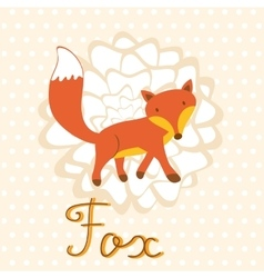 Little fox vector image