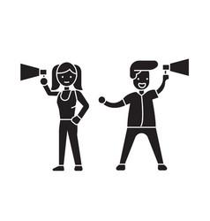 loudspeaker announcement black concept icon vector image