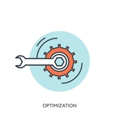 Mechanic tools lined icon Optimization concept vector