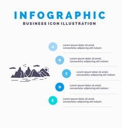mountain hill landscape nature cliff infographics vector image