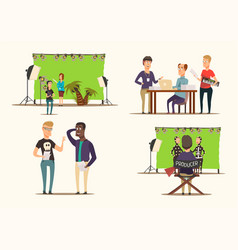 Movie making 2x2 concept vector