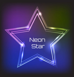 Neon light frame vector