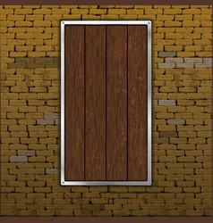 Old brick wall wood sheet vector