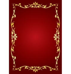 ornamented frame vector image