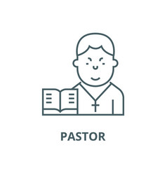 pastor line icon linear concept outline vector image