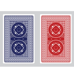 Playing card back designs vector